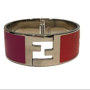 Fendi Women's Fuschia/Orange Clic Clac Bracelet
